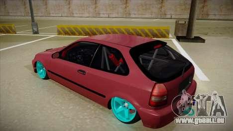 Honda Civic EK9 Drift Edition für GTA San Andreas Rückansicht