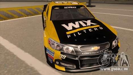 Chevrolet SS NASCAR No. 39  Wix Filters für GTA San Andreas linke Ansicht