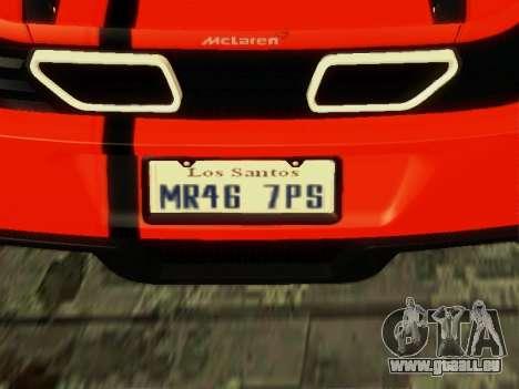 McLaren MP4-12C WheelsAndMore pour GTA San Andreas vue de droite