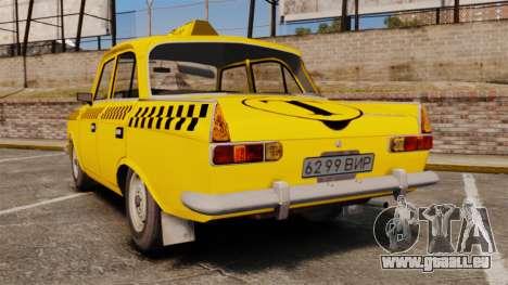 IZH-moskvitch 412 pour GTA 4 Vue arrière de la gauche