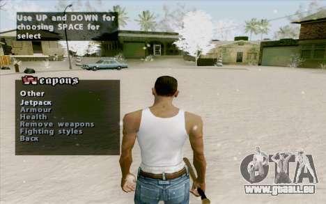 Weapons Menu Mod pour GTA San Andreas troisième écran