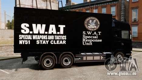Neue LKW SWAT für GTA 4 linke Ansicht