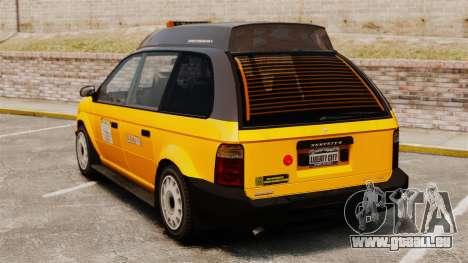Taxi amélioré pour GTA 4 Vue arrière de la gauche