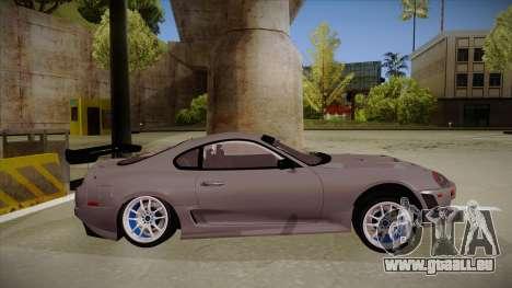 Toyota Supra RZ pour GTA San Andreas sur la vue arrière gauche