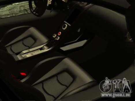 McLaren MP4-12C WheelsAndMore für GTA San Andreas obere Ansicht