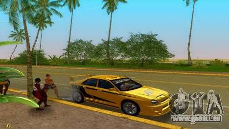 Subaru Impreza WRX v1.1 für GTA Vice City obere Ansicht