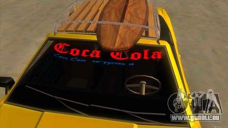 Elegy New Year for JDM pour GTA San Andreas vue de dessous
