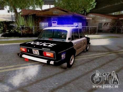 VAZ 2106 Los Santos Polizei für GTA San Andreas obere Ansicht