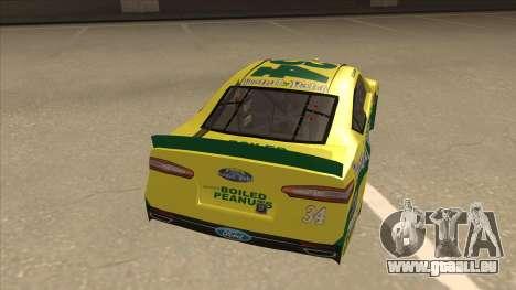 Ford Fusion NASCAR No. 34 Peanut Patch pour GTA San Andreas vue de droite