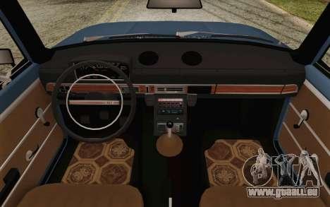 VAZ 21011 Aeroflot pour GTA San Andreas vue intérieure