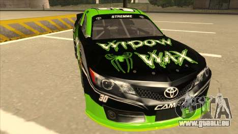 Toyota Camry NASCAR No. 30 Widow Wax pour GTA San Andreas laissé vue