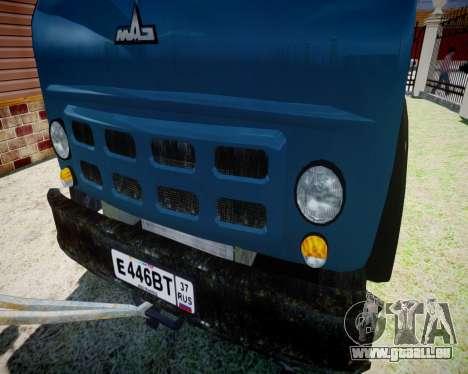 MAZ 500 parties KS3577-4-5 pour GTA 4 Vue arrière