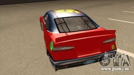 Ford Fusion NASCAR No. 95 pour GTA San Andreas vue arrière