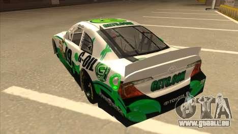Toyota Camry NASCAR No. 19 G-Oil pour GTA San Andreas vue arrière