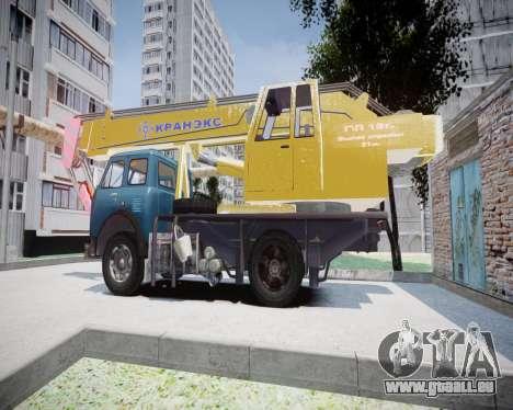 MAZ 500 KS3577-4-4 KRANEKS pour GTA 4 est une gauche