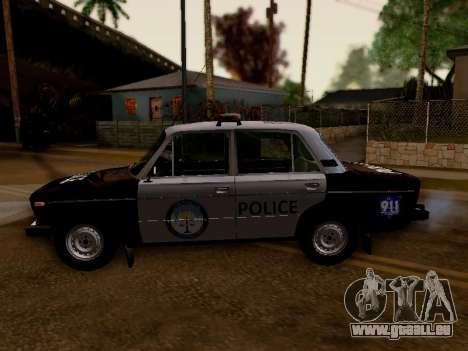 VAZ 2106 Los Santos Police pour GTA San Andreas laissé vue