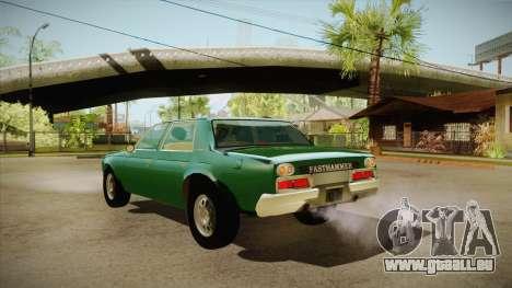 Fasthammer pour GTA San Andreas sur la vue arrière gauche