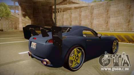 Pontiac Solstice Rhys Millen für GTA San Andreas rechten Ansicht