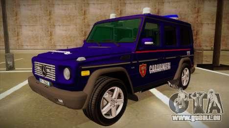 Mercedes Benz G8 Carabinieri pour GTA San Andreas