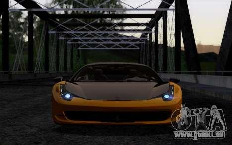 Ferrari 458 Italia Novitec Rosso Carbon pour GTA San Andreas vue de droite