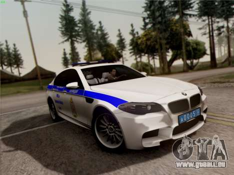 BMW M5 F10 INNEN OFFICE für GTA San Andreas