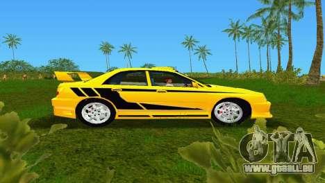 Subaru Impreza WRX v1.1 pour une vue GTA Vice City de la gauche