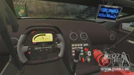 Lamborghini Murcielago RSV FIA GT1 v2.0 pour GTA 4 est une vue de l'intérieur