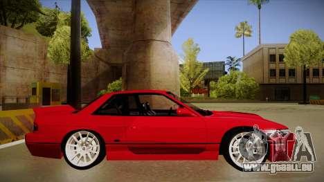 Nissan Silvia S13 Rocket Bunny für GTA San Andreas zurück linke Ansicht
