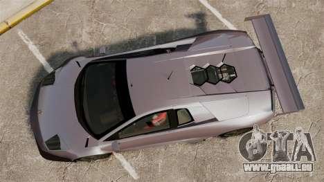 Lamborghini Murcielago RSV FIA GT1 v2.0 für GTA 4 rechte Ansicht
