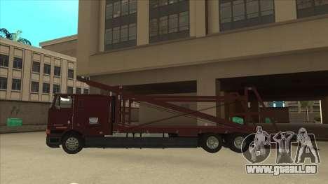 International 9700 Car Hauler pour GTA San Andreas laissé vue