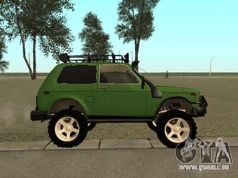 VAZ 21213 Niva 4x4 Off Road pour GTA San Andreas laissé vue