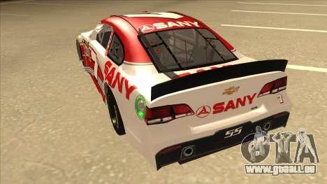 Chevrolet SS NASCAR No. 7 Sany für GTA San Andreas Rückansicht