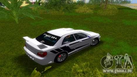 Subaru Impreza WRX v1.1 pour GTA Vice City sur la vue arrière gauche