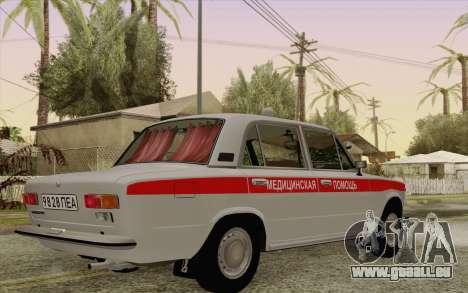 VAZ 21011 medizinische Betreuung für GTA San Andreas Rückansicht