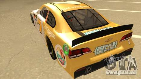 Chevrolet SS NASCAR No. 7 Florida Lottery für GTA San Andreas Rückansicht