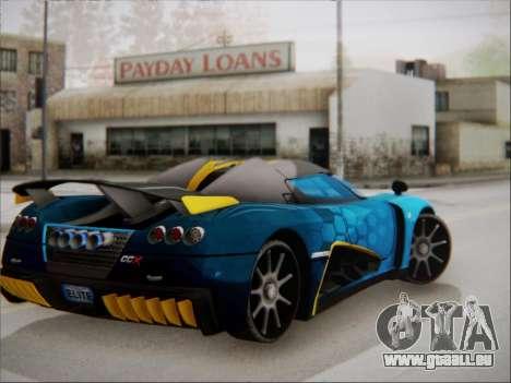 Koenigsegg CCX Elite pour GTA San Andreas laissé vue