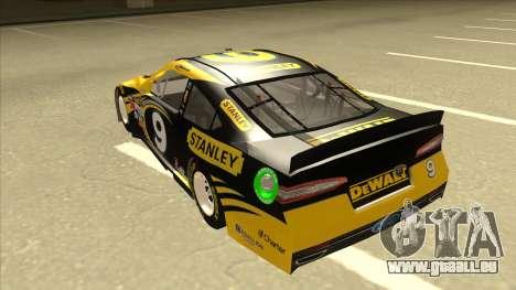 Ford Fusion NASCAR No. 9 Stanley DeWalt für GTA San Andreas Rückansicht