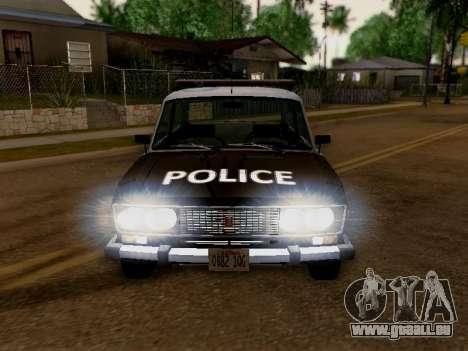 VAZ 2106 Los Santos Police pour GTA San Andreas vue arrière