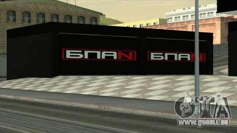 Le garage de Doherty BPAN pour GTA San Andreas troisième écran