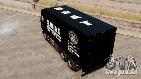 Nouveau camion SWAT pour GTA 4 Vue arrière de la gauche