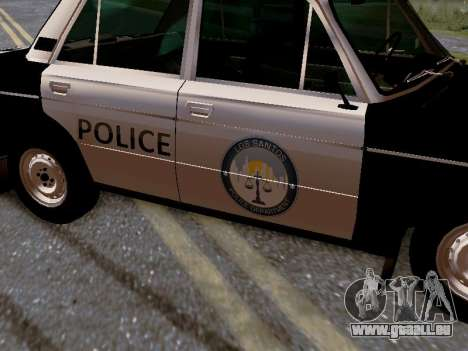 VAZ 2106 Los Santos Police pour GTA San Andreas vue de dessous