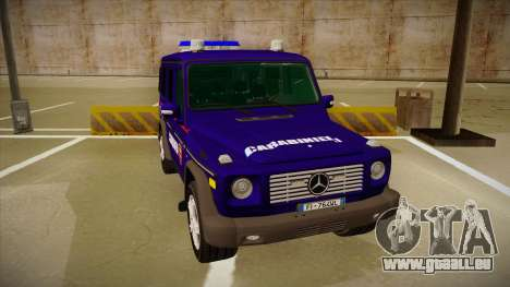 Mercedes Benz G8 Carabinieri für GTA San Andreas linke Ansicht