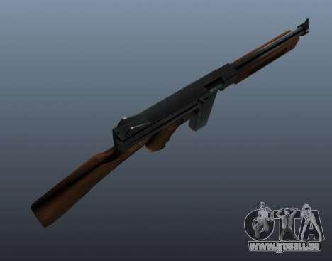 Thompson M1a1 Maschinenpistole v1 für GTA 4 dritte Screenshot