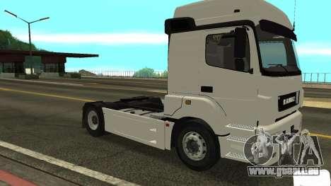 KAMAZ 5490 pour GTA San Andreas laissé vue