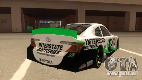 Toyota Camry NASCAR No. 18 Interstate Batteries für GTA San Andreas rechten Ansicht