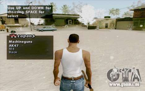 Weapons Menu Mod pour GTA San Andreas deuxième écran