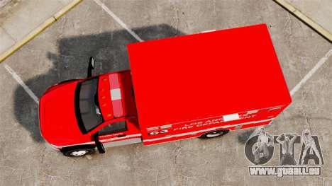 Dodge Ram 3500 2011 LAFD Ambulance [ELS] für GTA 4 rechte Ansicht