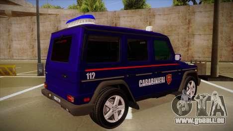 Mercedes Benz G8 Carabinieri pour GTA San Andreas vue de droite