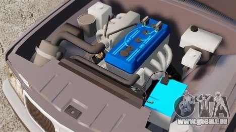 Volga gaz-3110 pour GTA 4 est une vue de l'intérieur