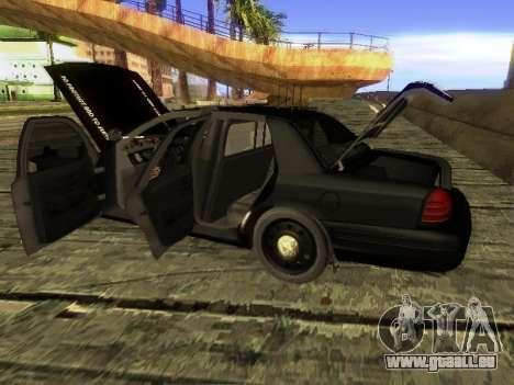 Ford Crown Victoria Police Interceptor pour GTA San Andreas sur la vue arrière gauche